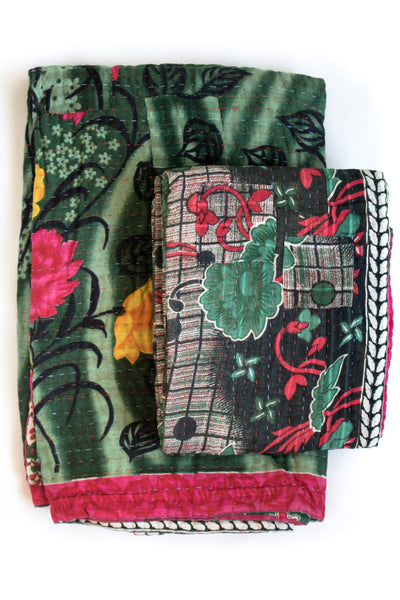 Together no. 5 Kantha Throw & Mini Set