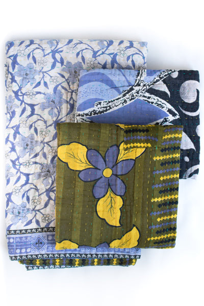 Together no. 12 Kantha Throw & Two Minis Set