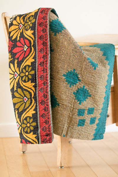 Sweet no. 13 Kantha Mini Blanket