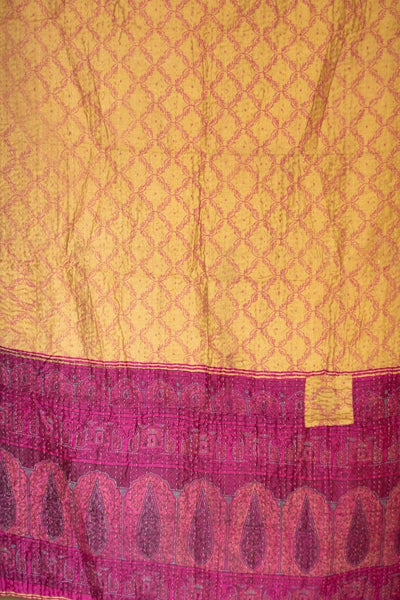 Charm Silk Blend Kantha Throw