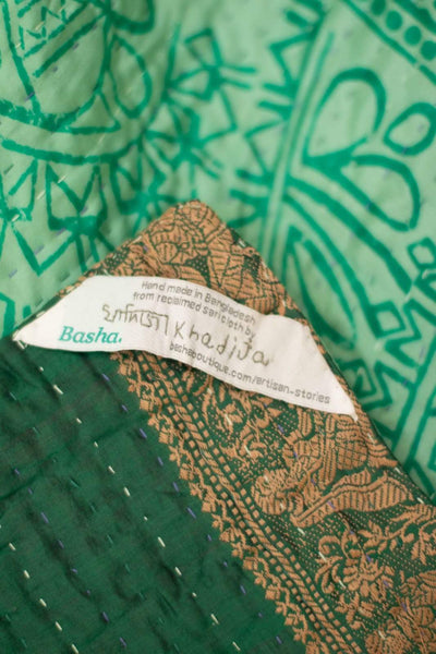 Elegance Silk Blend Kantha Throw