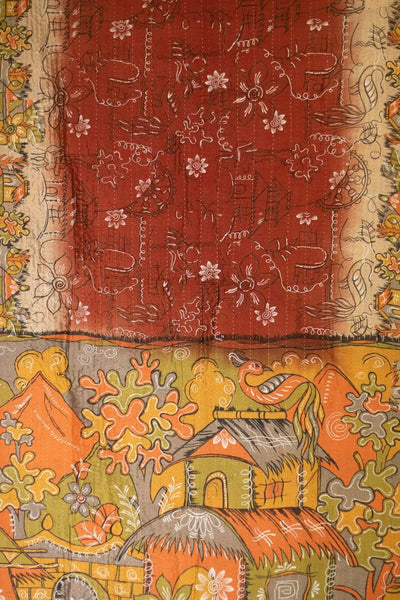 Gorgeous Silk Blend Kantha Throw