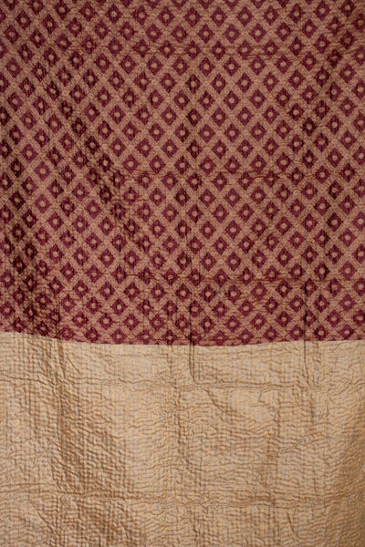 Ample Silk Blend Kantha Throw