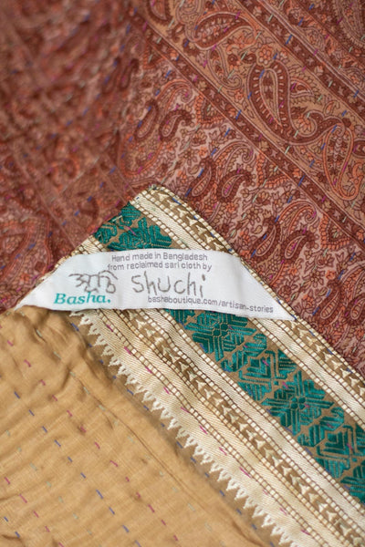 Intensify Silk Blend Kantha Throw