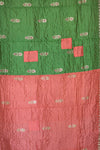 Green Silk Blend Kantha Throw