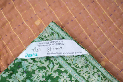 Swiss Silk Blend Kantha Throw