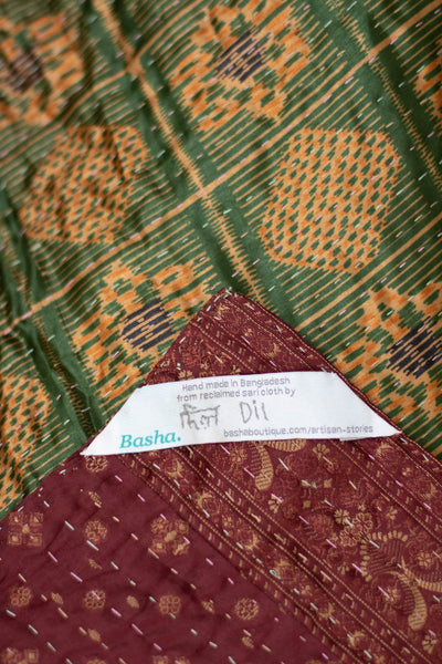 Courage Silk Blend Kantha Throw