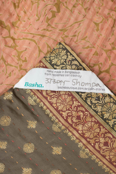 Praise Silk Blend Kantha Throw