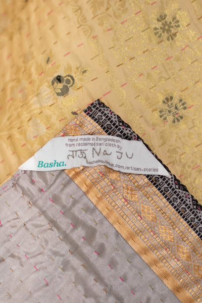 Purpose Silk Blend Kantha Throw