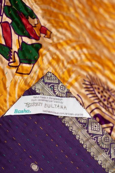Sureness Silk Blend Kantha Throw