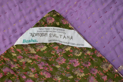 Tour Silk Blend Kantha Throw
