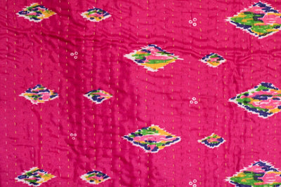 Cruise Silk Blend Kantha Throw