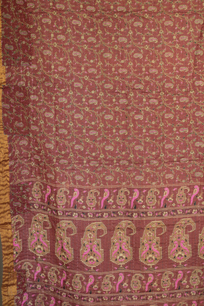 Magic Silk Blend Kantha Throw