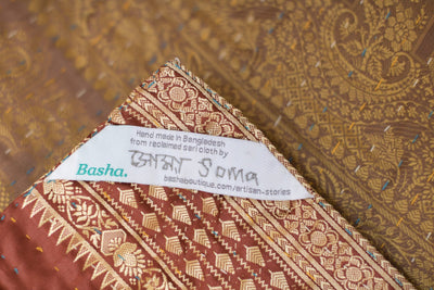 Write Silk Blend Kantha Throw