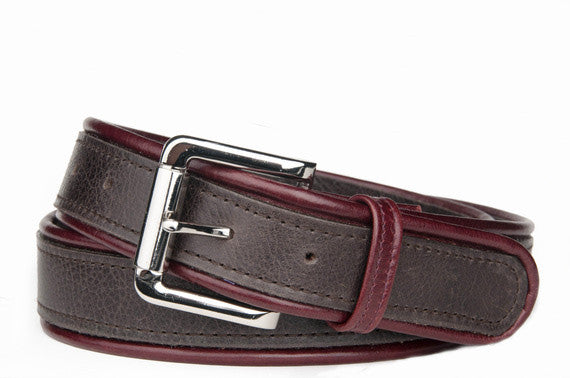 Keggy Guy Corded Belt (Espresso/Burgundy)