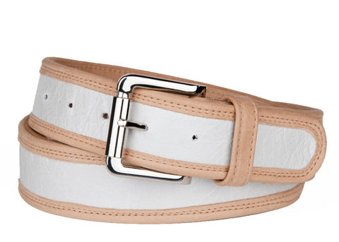 Keggy Guy Belt (White/Beige)