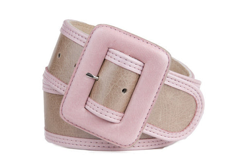 Keggy Girl Belt (Beige/Pink)