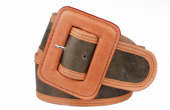 Keggy Girl Belt (Olive/Orange)