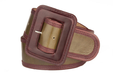 Keggy Girl Belt (Olive/Burgundy)