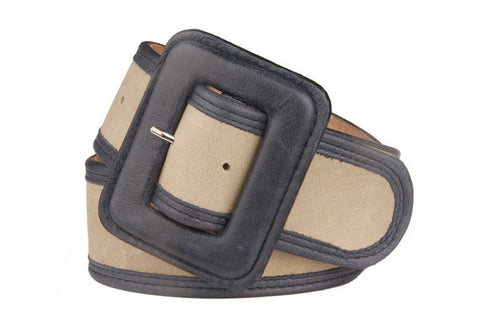 Keggy Girl Belt (Beige/Navy)