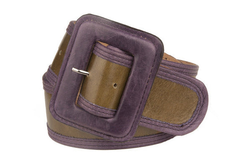 Keggy Girl Belt (Olive/Purple)