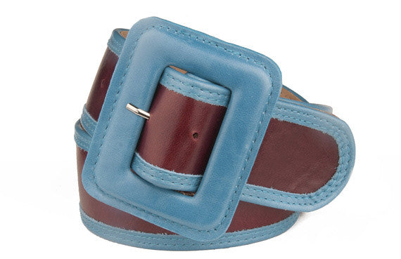 Keggy Girl Belt (Burgundy/Teal)