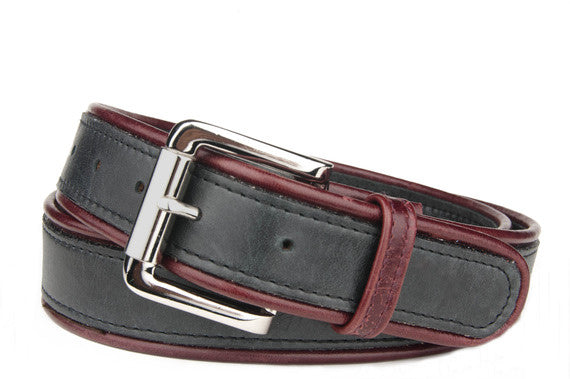 Keggy Guy Corded Belt (Black/Burgundy)