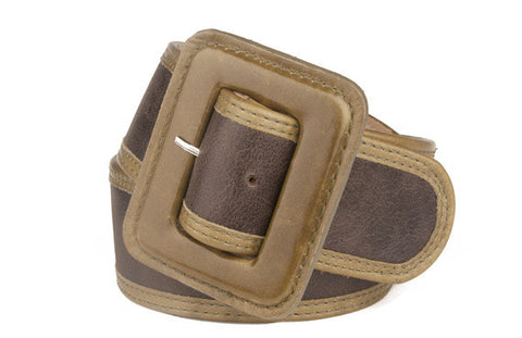 Keggy Girl Belt (Espresso/Olive)
