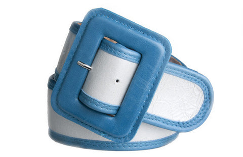 Keggy Girl Belt (White/Teal)