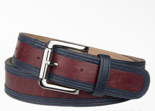 Keggy Guy Belt (Burgundy/Navy)