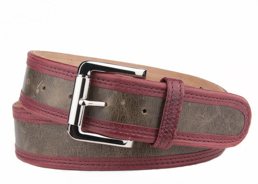 Keggy Guy Belt (Olive/Burgundy)