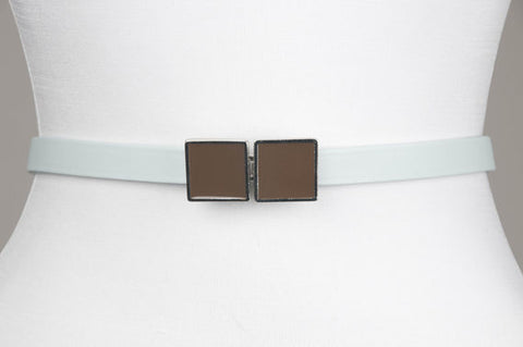 Square Enamel Buckle (French Roast)