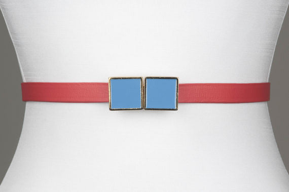 Square Enamel Buckle (Heaven Blue)