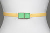 Square Enamel Buckle (Kelly Green)