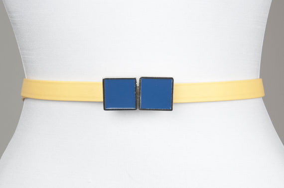 Square Enamel Buckle (Olympian Blue)