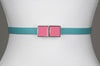 Square Enamel Buckle (Pink Flambe)