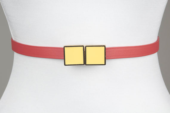 Square Enamel Buckle (Sunshine)