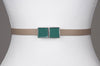 Square Enamel Buckle (Ultramarine Green)