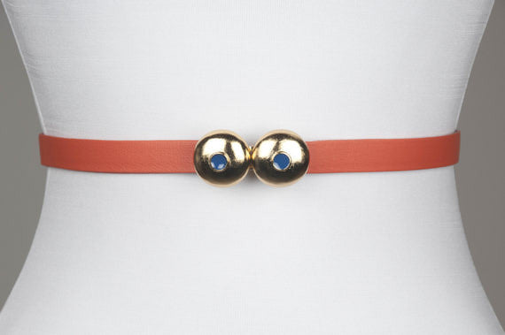 Dome Enamel Dot Buckle (Olympian Blue)