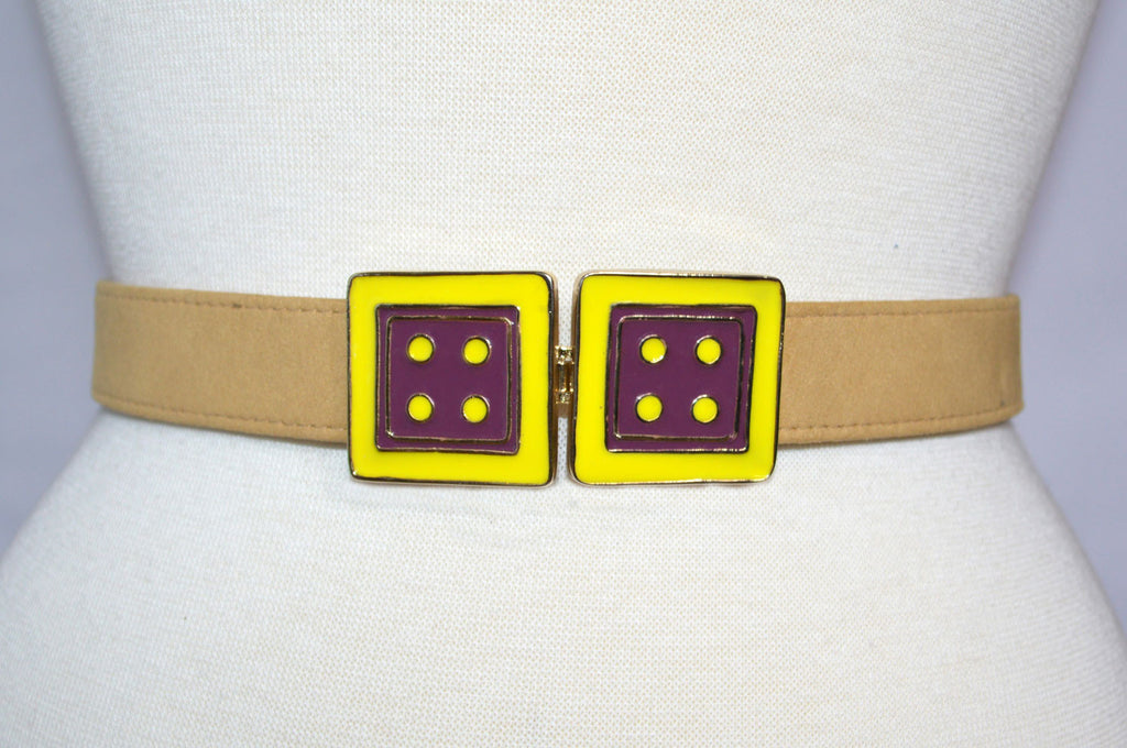 Twin Cincher in Black Cherry and Lemon Zest with Honey Gold Strap