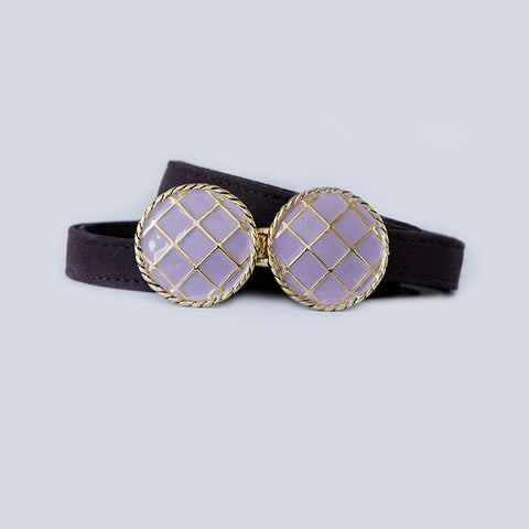 BasketWeave Buckle in Lavender