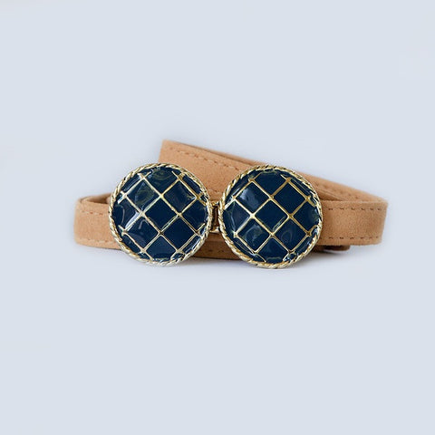 BasketWeave Buckle in Monaco Blue