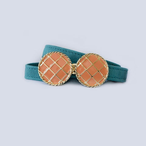 BasketWeave Buckle in Orange