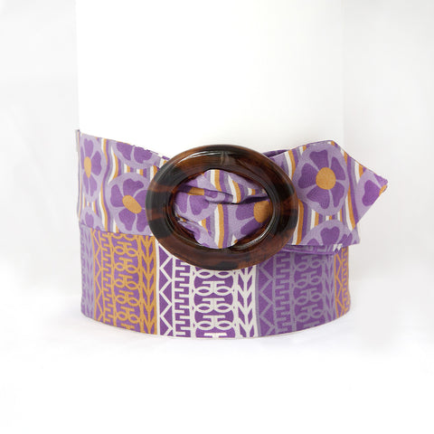 Purple and Orange Silk Belt