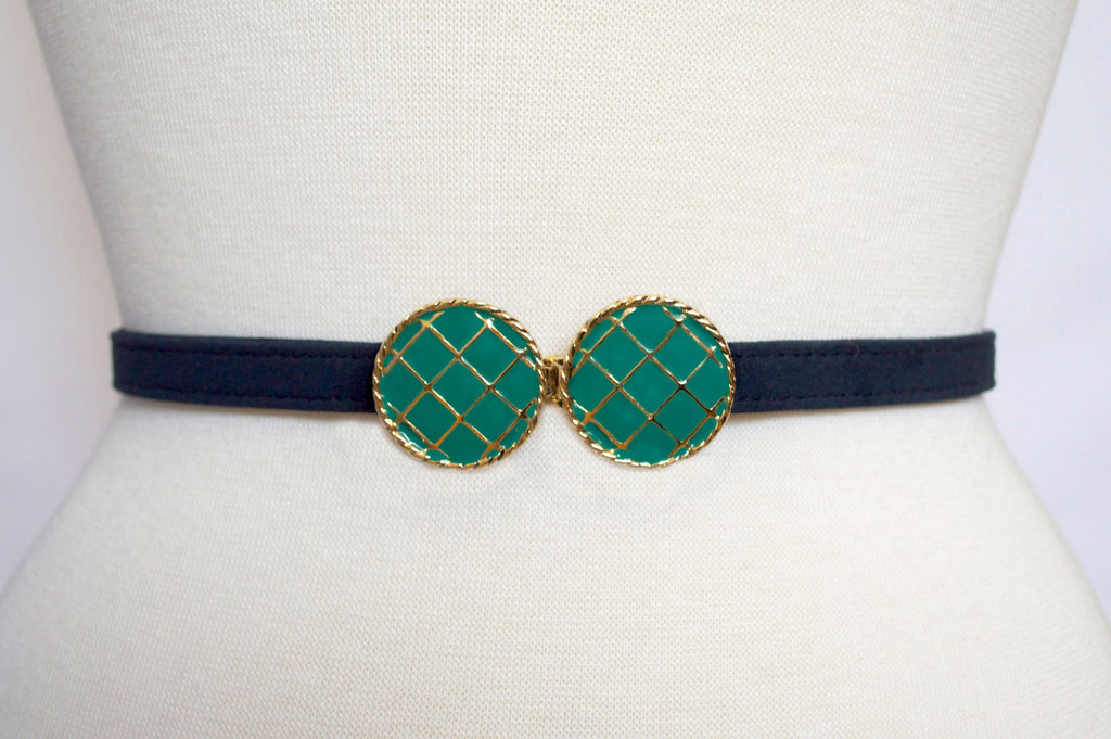 Emerald Buckle with Navy Strap