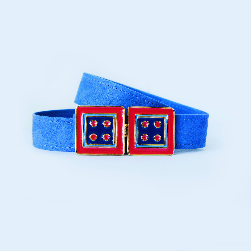 Twin Cincher in Monaco Blue and Red