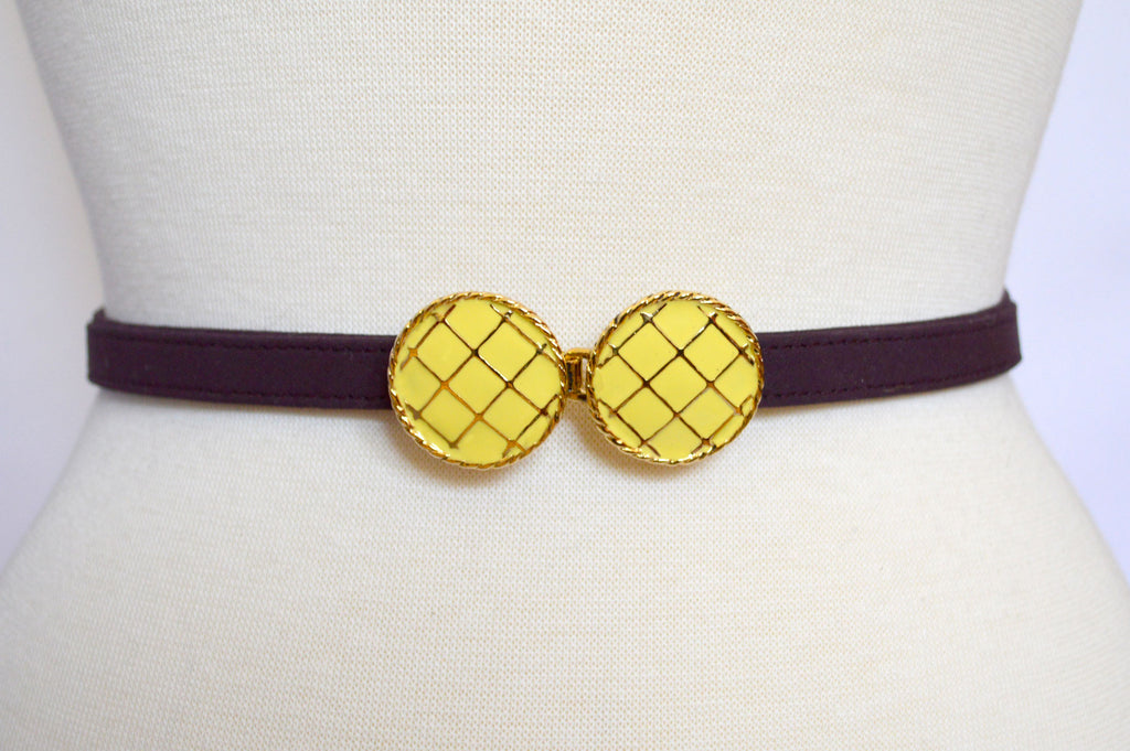 Lemon Zest with Plum Strap
