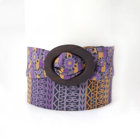 Navy and Orange Silk Belt