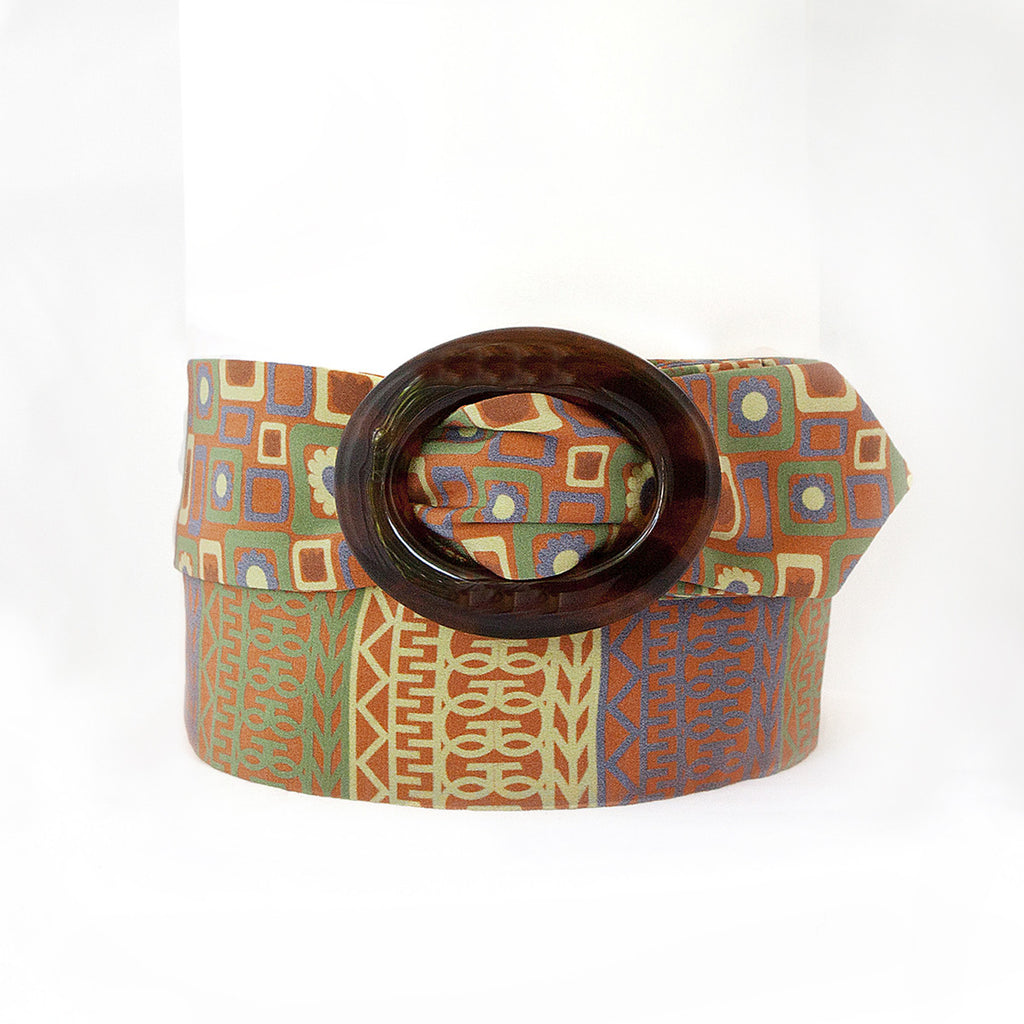 Orange and Yellow Silk Belt