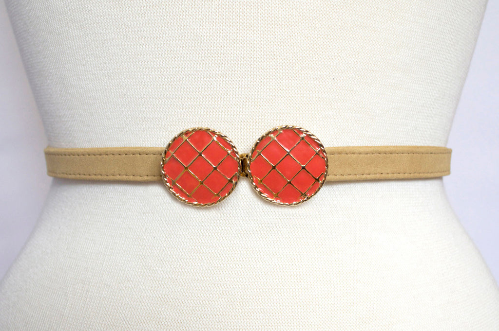 Poppy Buckle with Honey Gold Strap